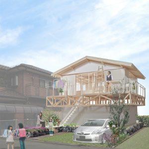 津島の四層二階建て住宅