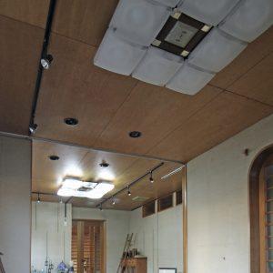 天井の布地 改修前