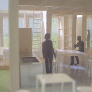 incomplete house ズレが個別の領域をつくりながらも、ひとつの住宅として連続的につながる