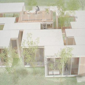 incomplete house 模型写真 鳥瞰