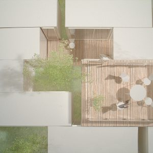 incomplete house 模型写真 上から