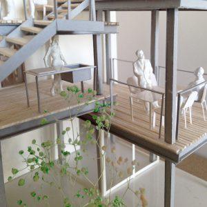 Fujiyoshida-Balcony 模型写真 バルコニーの屋外キッチン