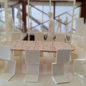 Fujiyoshida-Balcony 模型写真 2階会議スペース