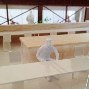 Fujiyoshida-Balcony 模型写真 3階シェアオフィス