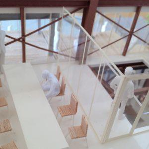Fujiyoshida-Balcony 模型写真 2階事務スペース