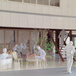 Fujiyoshida-Balcony 模型写真 1階カフェテラス