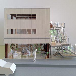 Fujiyoshida-Balcony 模型写真 正面外観