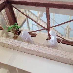 Fujiyoshida-Balcony 模型写真 3階休憩スペース