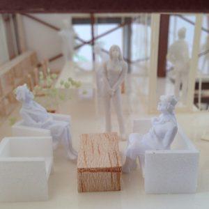 Fujiyoshida-Balcony 模型写真 2階打合せスペース