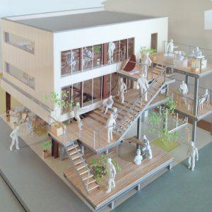 Fujiyoshida-Balcony 模型写真 鳥瞰