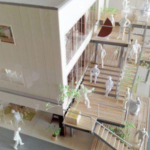 Fujiyoshida-Balcony 模型写真 バルコニー全体