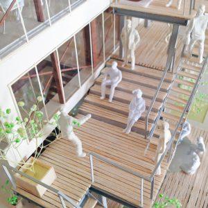 Fujiyoshida-Balcony 模型写真 バルコニーの劇場