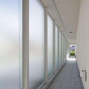 半透明の中庭/homeKZ ガラススクリーン内側