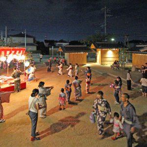 亀崎公園の再編 小唄踊りの様子