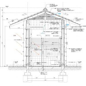 亀崎公園の再編 矩計図