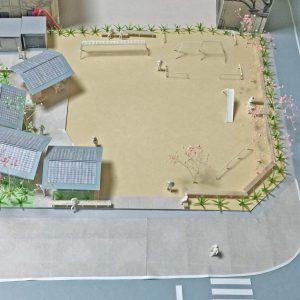 亀崎公園の再編 模型写真