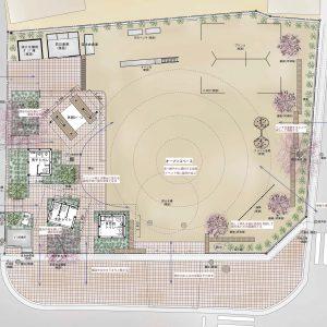 亀崎公園の再編 配置図