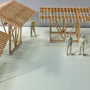 亀崎公園の再編 軸組模型