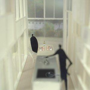 引違い窓の壁 キッチン内観