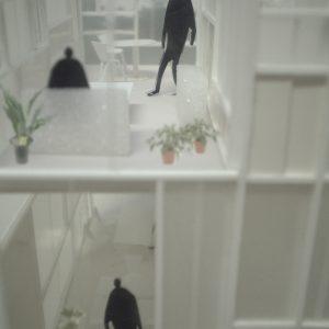 引違い窓の壁 外観近景