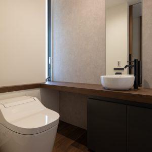直方体と門型の庇 トイレ